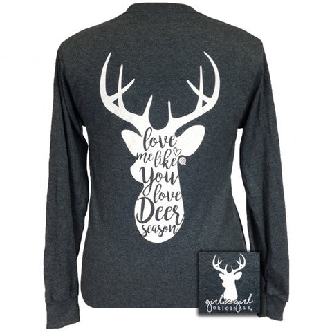 Girlie Girl Originals Preppy Deer Season Long Sleeves T Shirt
