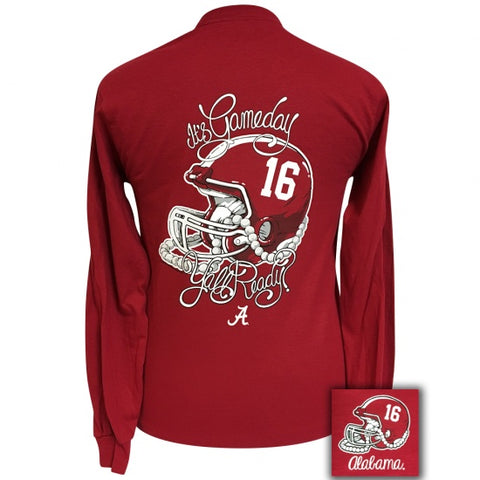 Alabama Crimson Tide Its Gameday Yall Ready Long Sleeve T-Shirt - SimplyCuteTees