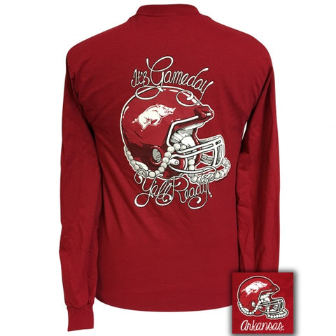 Arkansas Razorbacks Hogs Its Gameday Yall Ready Long Sleeve T-Shirt - SimplyCuteTees