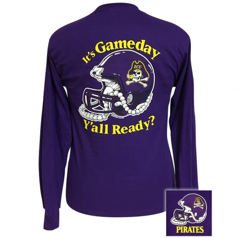ECU East Carolina Pirates Its Gameday Yall Ready Long Sleeves T Shirt