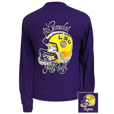 Louisaiana LSU Tigers Its Gameday Yall Ready Long Sleeve T-Shirt - SimplyCuteTees