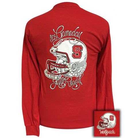 North Carolina NC State Wolfpack Its Gameday Yall Ready Long Sleeve T-Shirt