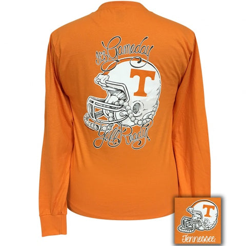 Girlie Girl Preppy Tennessee Vols Gameday Long Sleeve T-Shirt