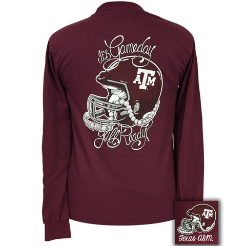 Texas A&M Aggies Its Gameday Yall Ready Long Sleeve T-Shirt - SimplyCuteTees