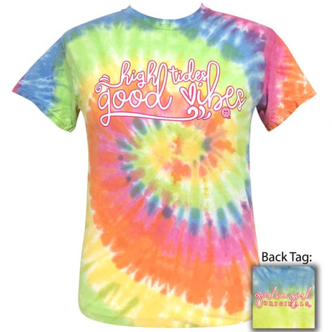 Girlie Girl Originals Preppy Good Vibes Tiedye T-Shirt