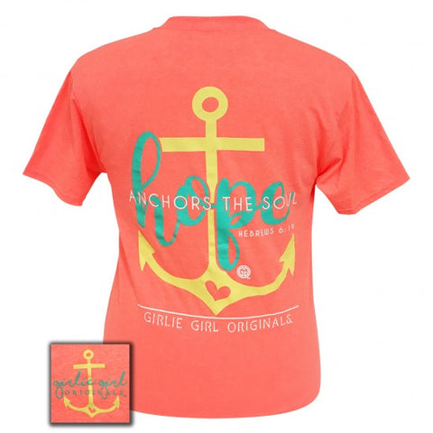 Girlie Girl Preppy Hope Anchors The Soul T-Shirt