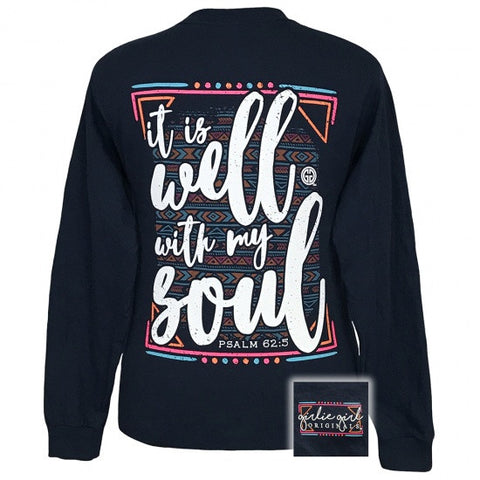 Girlie Girl Southern Originals Well With My Soul Faith Long Sleeve T-Shirt