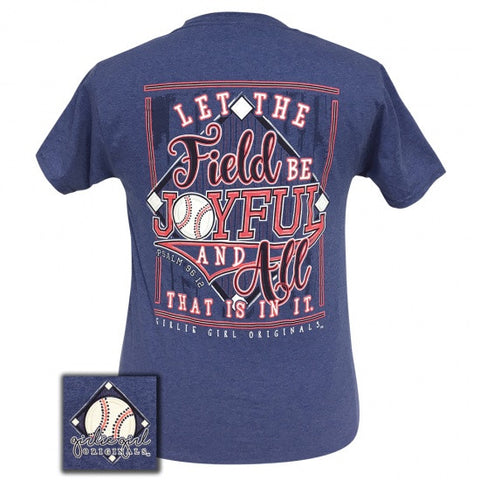 Girlie Girl Preppy Joyful Baseball T-Shirt - SimplyCuteTees