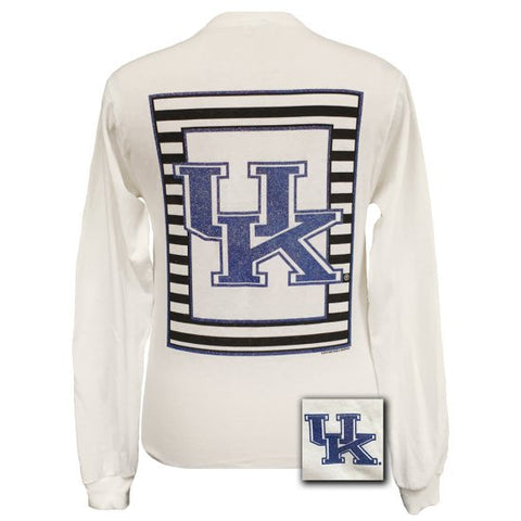 UK Kentucky Wildcats Preppy Glitter Logo Girlie Long Sleeves T Shirt - SimplyCuteTees