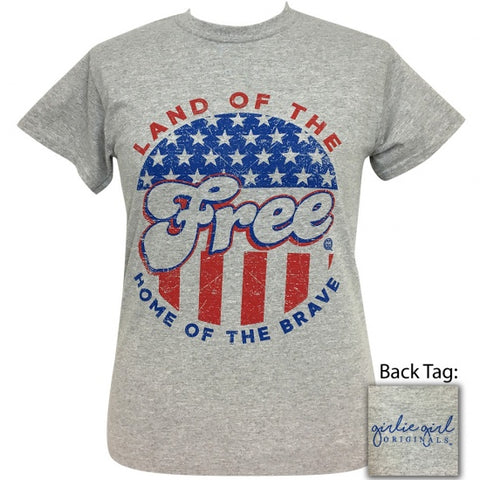 Girlie Girl Originals Land Of The Free USA T-Shirt