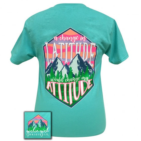 Girlie Girl Preppy change in latitude would change my attitude T-Shirt