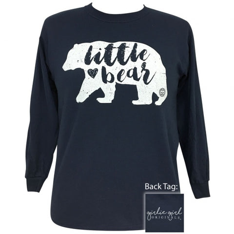 Girlie Girl Originals Preppy Little Bear Long Sleeve T-Shirt - SimplyCuteTees