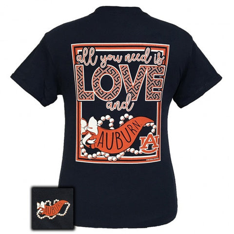 Auburn Tigers All You Need Is Love T-Shirt - SimplyCuteTees