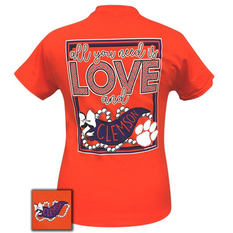 South Carolina Clemson Tigers All You Need Is Love T-Shirt - SimplyCuteTees