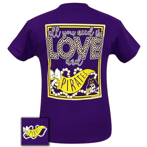 ECU East Carolina Pirates All You Need Is Love T-Shirt