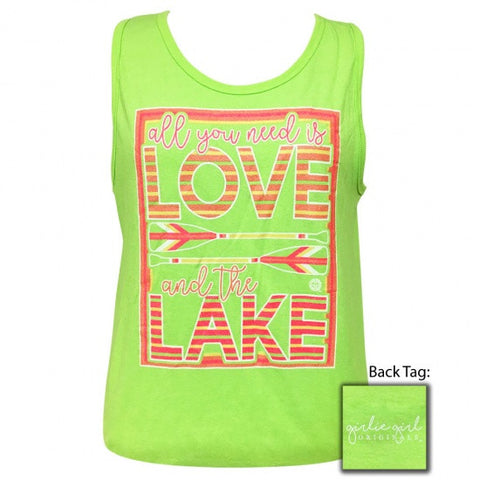 Girlie Girl Originals Preppy Love And The Lake Tank Top - SimplyCuteTees