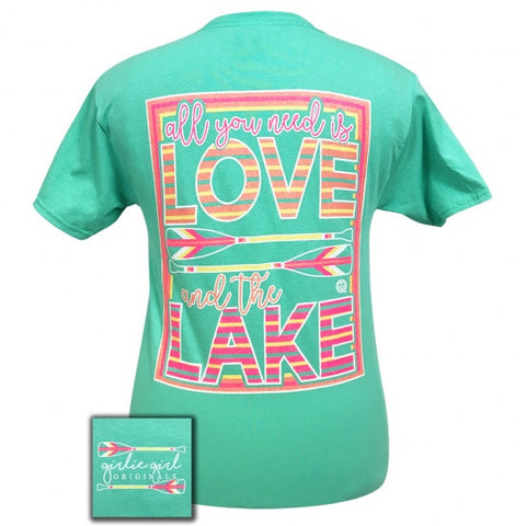 Girlie Girl Preppy Love And The Lake Arrow T-Shirt - SimplyCuteTees