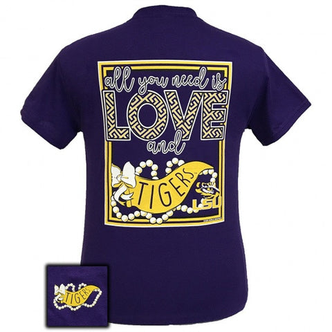 Louisiana State LSU Tigers All You Need Is Love T-Shirt - SimplyCuteTees