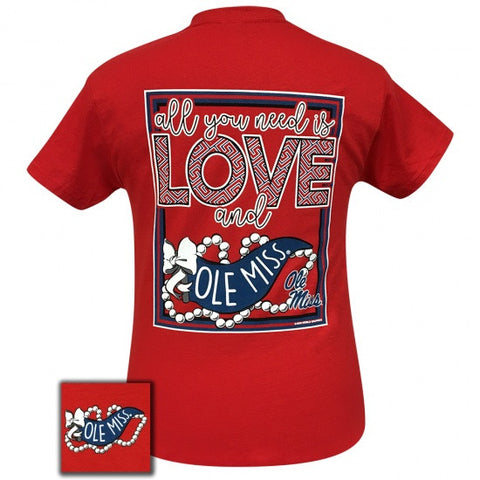 Mississippi Ole Miss Rebels All You Need Is Love T Shirt