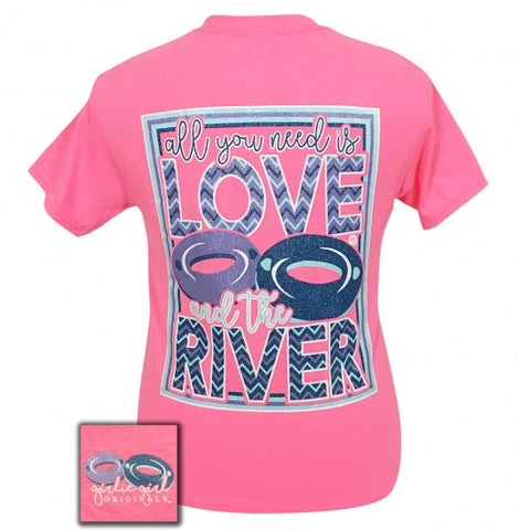 Girlie Girl Originals Preppy Love And The River T-Shirt - SimplyCuteTees