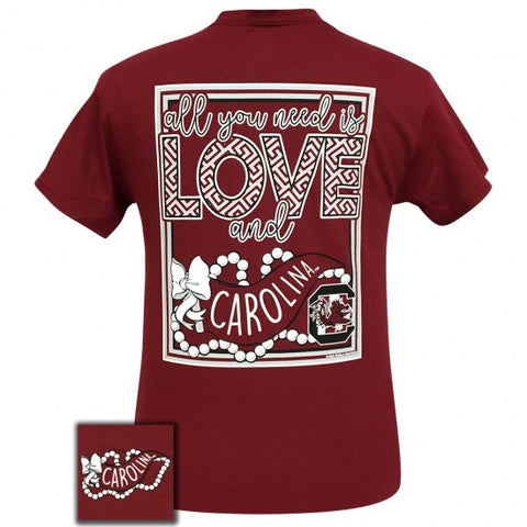 South Carolina Gamecocks All You Need Is Love T-Shirt