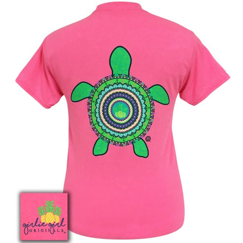Girlie Girl Originals Preppy Mandala Turtle T-Shirt - SimplyCuteTees