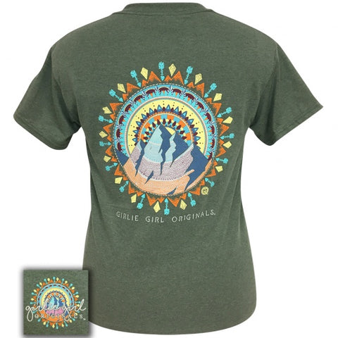 Girlie Girl Originals Preppy Mountain Mandala T-Shirt - SimplyCuteTees
