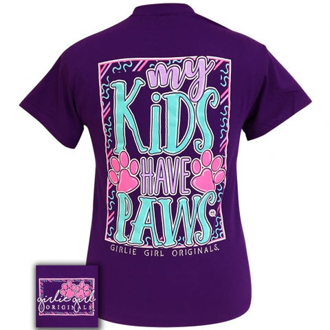 Girlie Girl Originals Preppy My Kids Have Paws T-Shirt - SimplyCuteTees