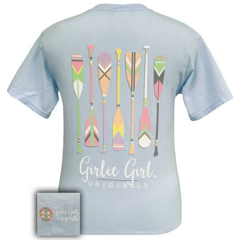 Girlie Girl Originals Preppy Oars Canoe River Comfort Colors T-Shirt - SimplyCuteTees