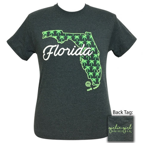 Girlie Girl Originals Florida Palm Tree Preppy State T-Shirt - SimplyCuteTees