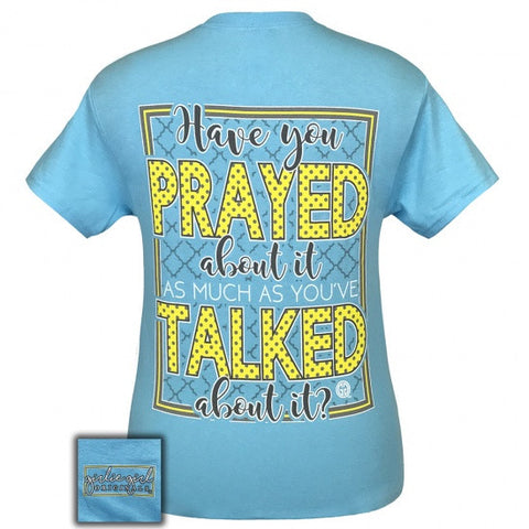 Girlie Girl Originals Preppy Prayed About It T-Shirt - SimplyCuteTees