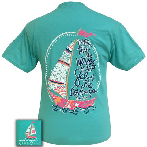 Girlie Girl Originals Preppy Psalm 93:4 Boat Sea Faith T-Shirt - SimplyCuteTees