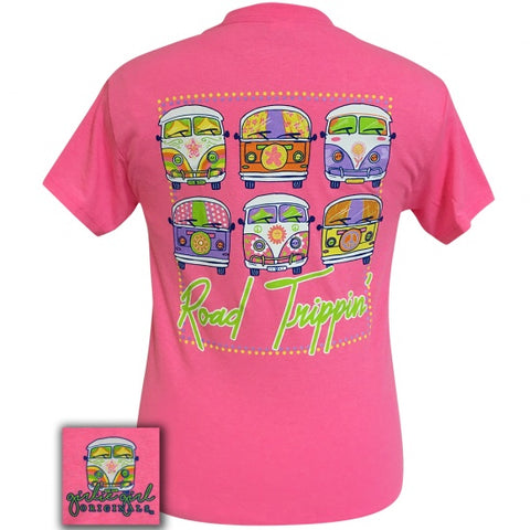 Girlie Girl Originals Preppy Road Trippin Hippie Vans T-Shirt - SimplyCuteTees