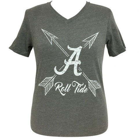 Girlie Girl Preppy Alabama Roll Tide V-Neck T-Shirt