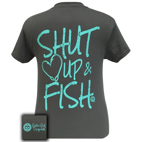 Girlie Girl Originals Preppy Shut Up & Fish T-Shirt - SimplyCuteTees