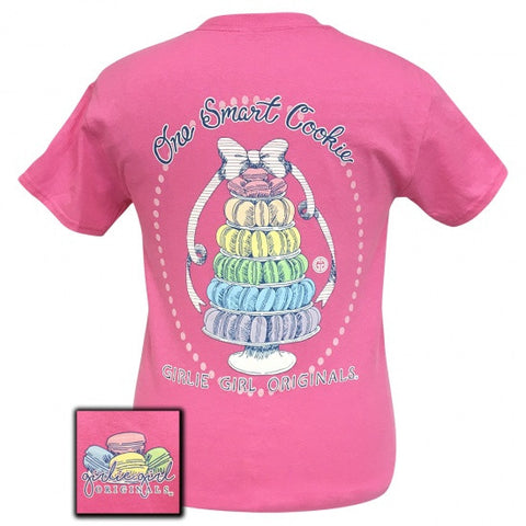 Girlie Girl Preppy One Smart Cookie T-Shirt - SimplyCuteTees