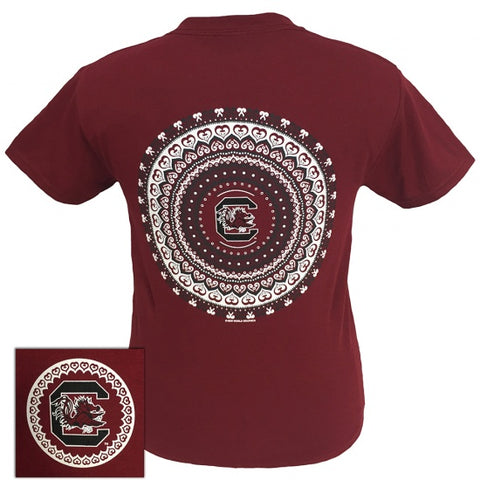 South Carolina Gamecocks Preppy Mandala T-Shirt - SimplyCuteTees
