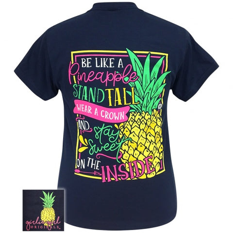 Girlie Girl Originals Preppy Pineapple Stand Tall T-Shirt - SimplyCuteTees