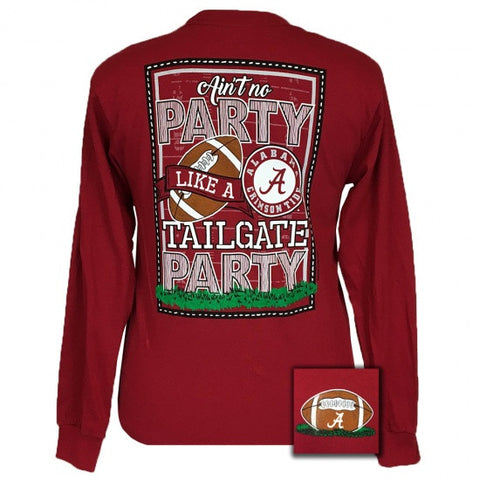 Alabama Crimson Tide Tuscaloosa Tailgate Party Long Sleeve T-Shirt - SimplyCuteTees