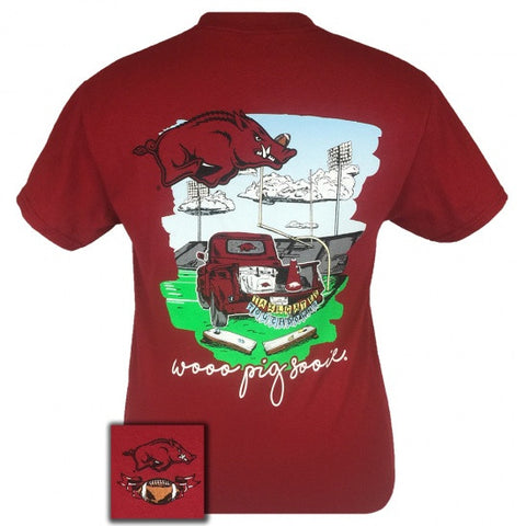 Arkansas Razorbacks Tailgates & Touchdowns Party T-Shirt - SimplyCuteTees