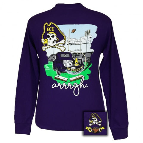 ECU East Carolina Pirates Tailgates & Touchdowns Party Long Sleeve T-Shirt