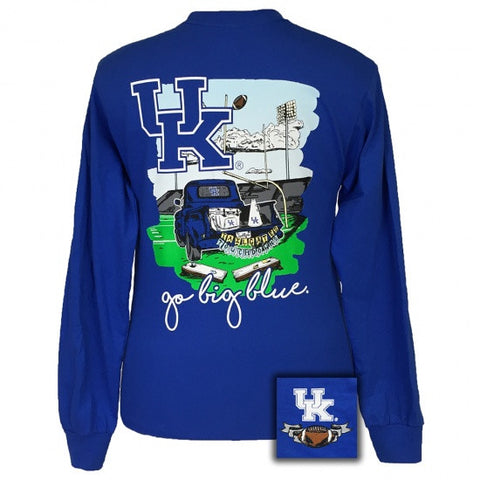 UK Kentucky Wildcats Tailgates & Touchdowns Party Long Sleeve T-Shirt - SimplyCuteTees