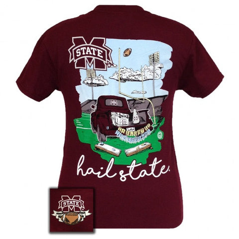 MSU Mississippi State Bulldogs Tailgate & Touchdowns Party T-Shirt