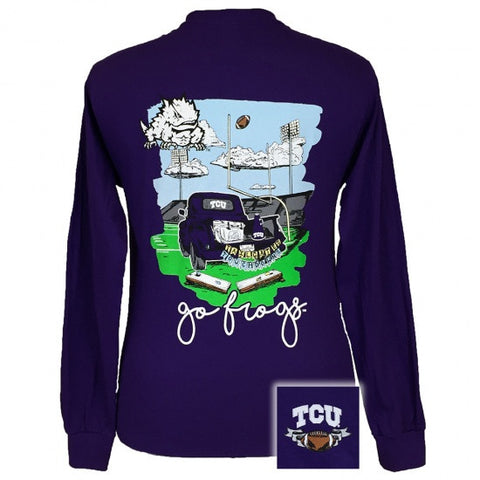 Texas TCU Horned Frogs Tailgates and Touchdowns Long Sleeve T-Shirt