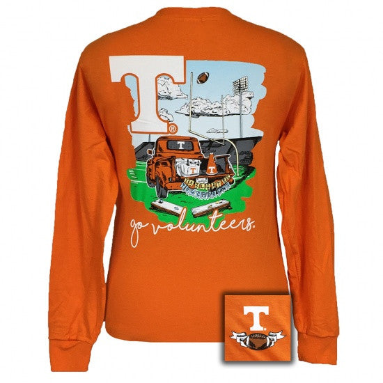 Tennessee Vols Volunteer Knoxville Tailgate & Touchdowns Party Long Sleeve T-Shirt - SimplyCuteTees