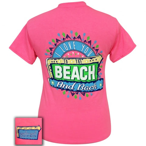 Girlie Girl Originals Preppy Love You To The Beach T-Shirt - SimplyCuteTees