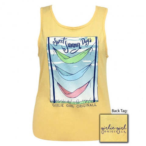 Girlie Girl Originals Preppy Triple Hammock Summer Tank Top