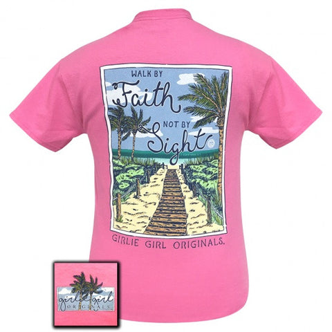 SALE Girlie Girl Preppy Walk By Faith, Not By Sight Beach T-Shirt