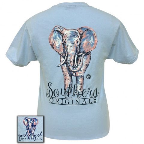 Girlie Girl Originals Preppy Watercolor Elephant T-Shirt