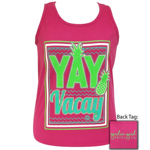 Girlie Girl Preppy Yay Vacay Summer Tank Top